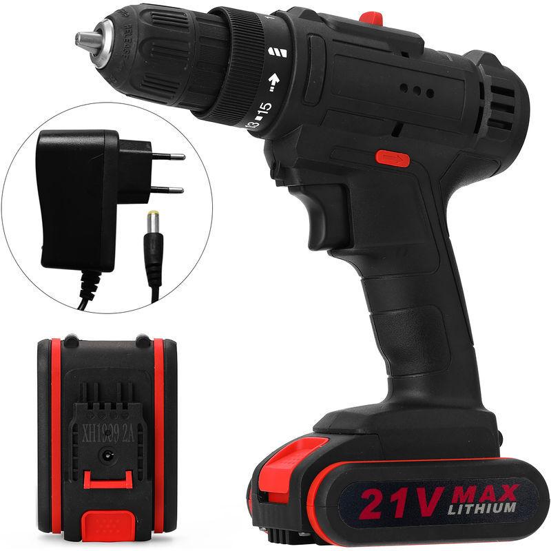 ASUPERMALL 21V multifunzionale elettrico ad impulsi a batteria Drill-alta potenza Tools Batteria al litio ricaricabile senza fili a mano Trapani casa fai da te
