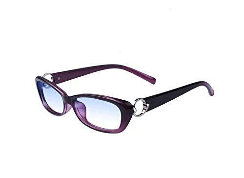 LJXWH Occhiali da lettura anti-blu Occhiali da donna eleganti Comfort ultraleggero Selezionare l'ingrandimento (Colore : Purple, dimensioni : 1.5X)