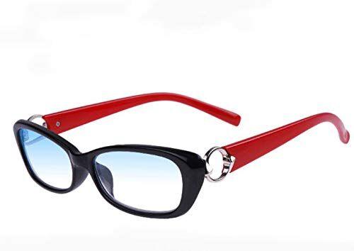 LJXWH Occhiali da lettura anti-blu Occhiali da donna eleganti Comfort ultraleggero Selezionare l'ingrandimento (Colore : Black red, dimensioni : 3.5X)