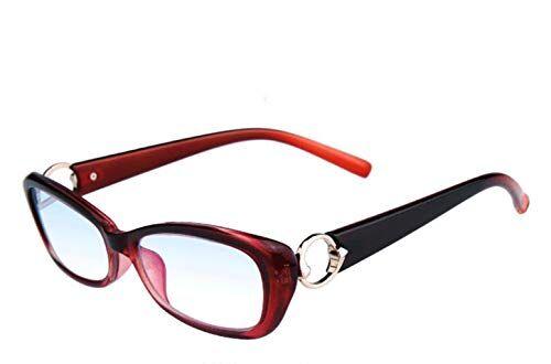 LJXWH Occhiali da lettura anti-blu Occhiali da donna eleganti Comfort ultraleggero Selezionare l'ingrandimento (Colore : Vino rosso, dimensioni : 2.0X)