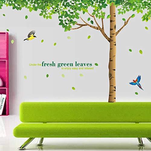 Turobayuusaku Fresh Big Tree Wall Stickers Living Room Bedroom Can Be Moved Pvc Transparent Film Three Collage