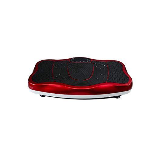 WFFF 3D pedana vibrante dimagrante Altoparlanti Bluetooth con altoparlante Bluetooth USB Music Player Unisex Vibration Trainer per la perdita di peso e la tonificazione del corpo,Red
