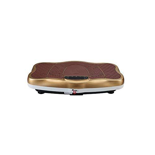 WFFF 3D pedana vibrante dimagrante Altoparlanti Bluetooth con altoparlante Bluetooth USB Music Player Unisex Vibration Trainer per la perdita di peso e la tonificazione del corpo,Brown