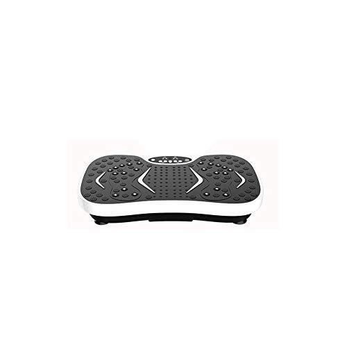WFFF Ultra magro pedana vibrante dimagrante Massaggio Crazy Fit per tutto il corpo 99 livelli di velocità Bluetooth Music + Superficie enorme + Design senza rivali + Bande di resistenza + Telecomando,White