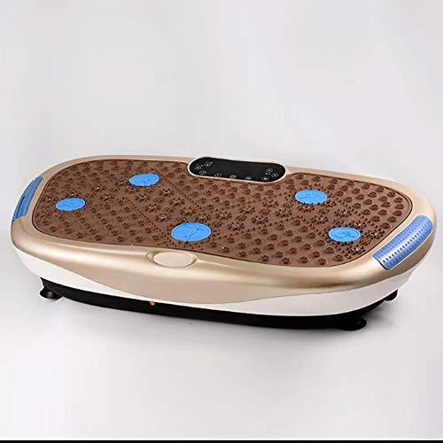WFFF Pedana Vibrante 99 livelli di velocità per perdere grasso e tonificazione del corpo in palestra, telecomando per casa e ufficio/Bluetooth Music/Connessione USB (caricamento massimo 250 kg),Brown