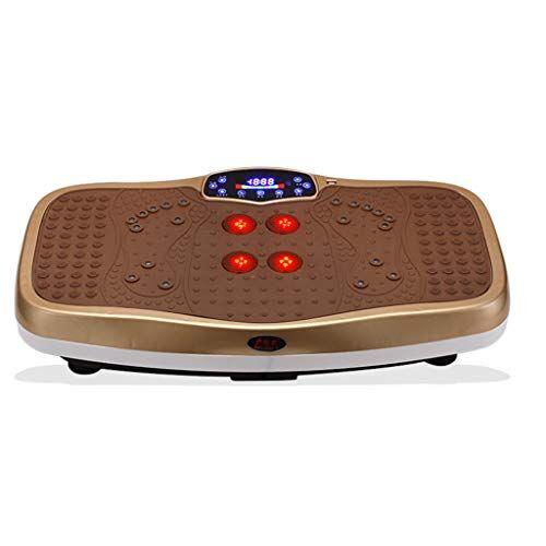 XQAQX Cintura dimagrante Piattaforma oscillante della macchina di esercizio di forma fisica pazzesca del piatto di potere di vibrazione con la fisioterapia infrarossa del riscaldamento, bande di resistenza,