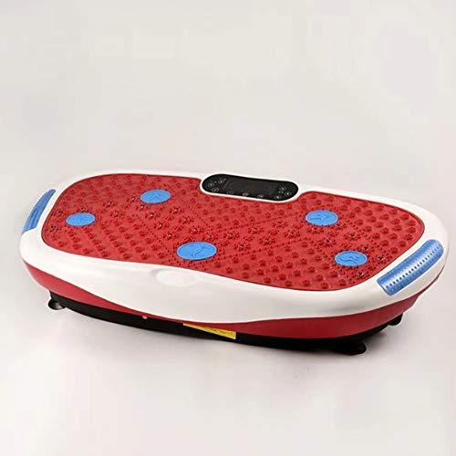 WFFF Pedana Vibrante 99 livelli di velocità per perdere grasso e tonificazione del corpo in palestra, telecomando per casa e ufficio/Bluetooth Music/Connessione USB (caricamento massimo 250 kg),Red