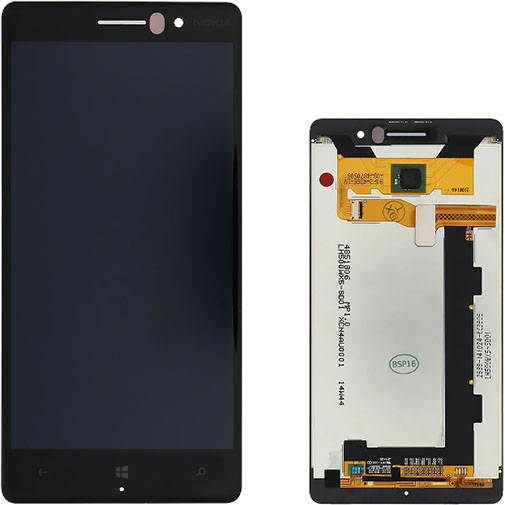 Nokia - Vetro LCD per Nokia Lumia 830 - Nero (Originale)