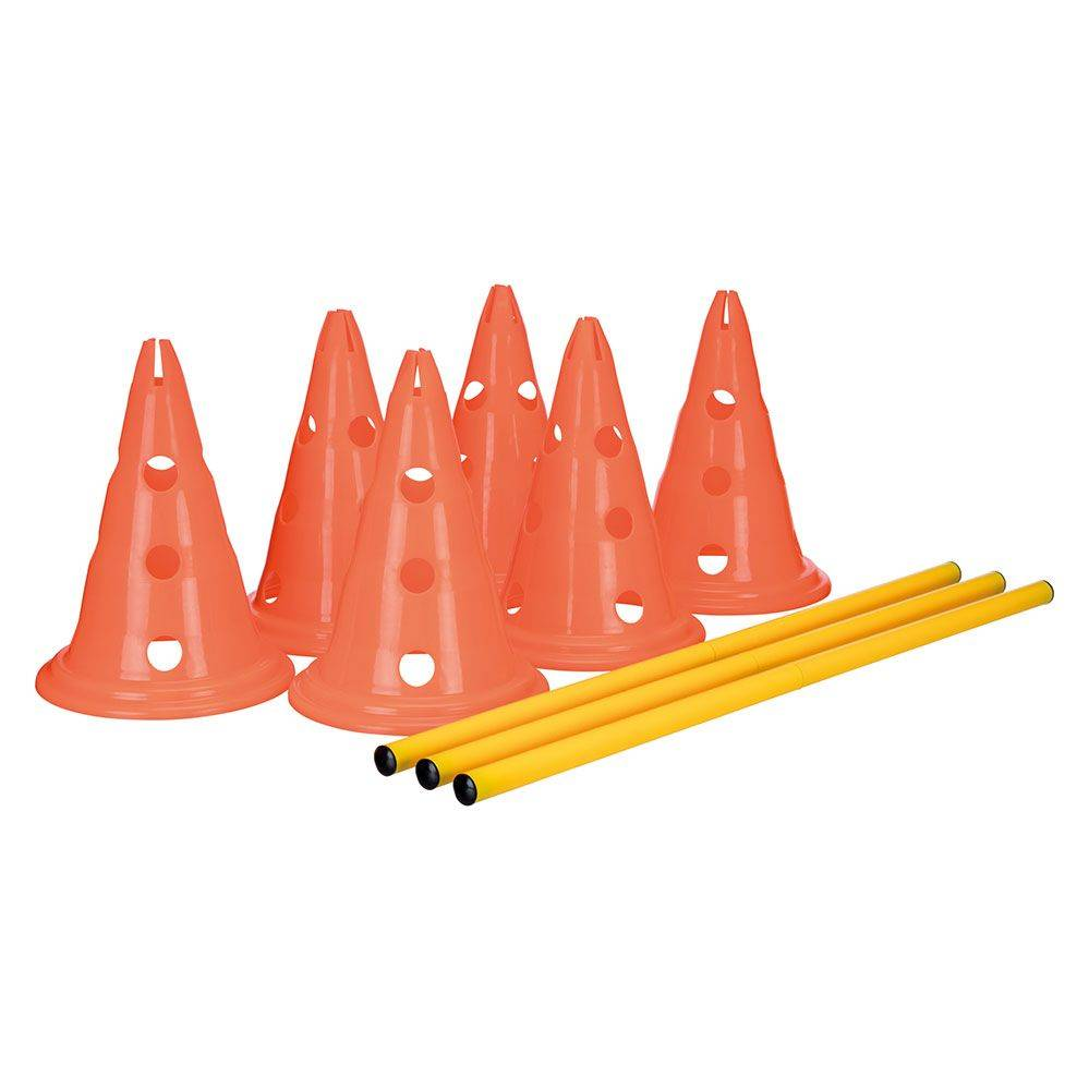 trixie set di ostacoli trixie dog activity, 3 pz - 6 coni e 3 aste
