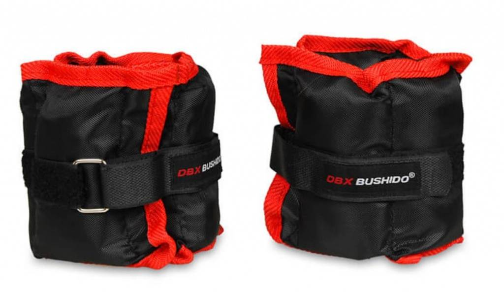 dbx bushido coppia polsiere/cavigliere con pesi 2 kg & 3 kg