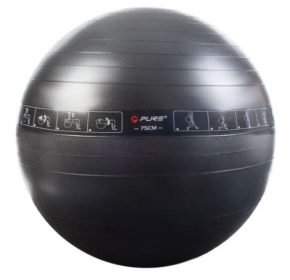 pure2improve palla pure da pilates o aerobica 65 o 75 cm exercise ball