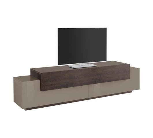 duzzle porta tv christine linea lyon color sabbia e rovere scuro 2 ante e 1 cassetto