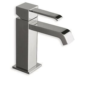 cristina rubinetterie quadri qm220 miscelatore lavabo regular piletta 11/4 up&down cromato codice prod: lisqm22051