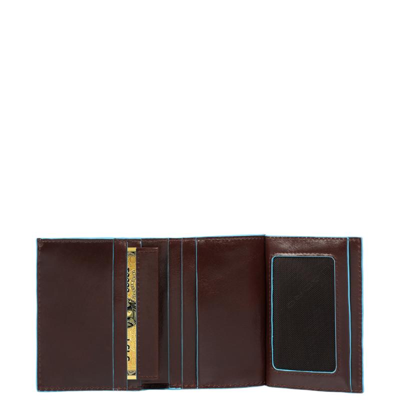 Piquadro Blue Square Portafoglio Uomo Con Porta Documenti E Porta Carte Di Cr...