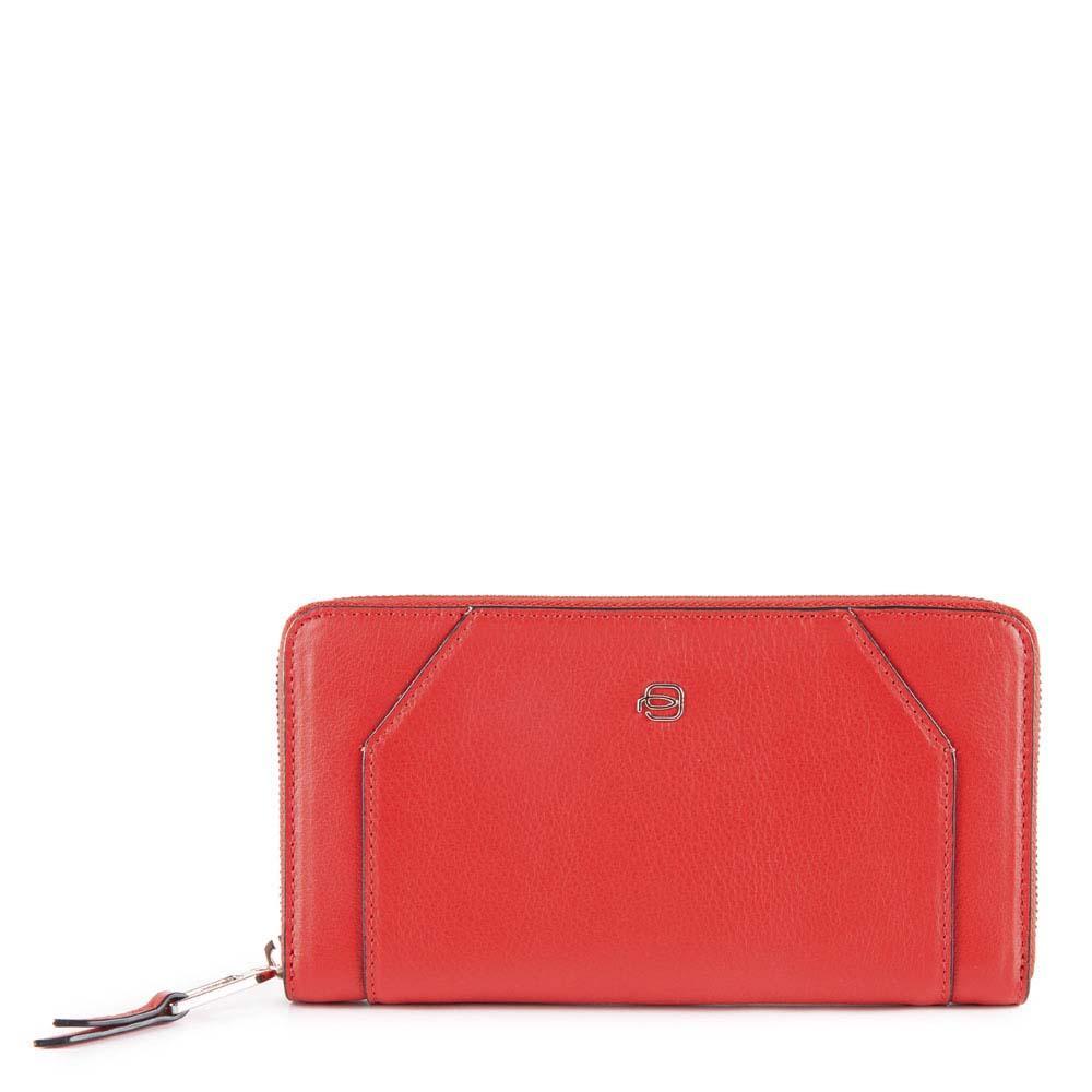 Piquadro Muse Portafoglio Con 4 Soffietti - Rosso