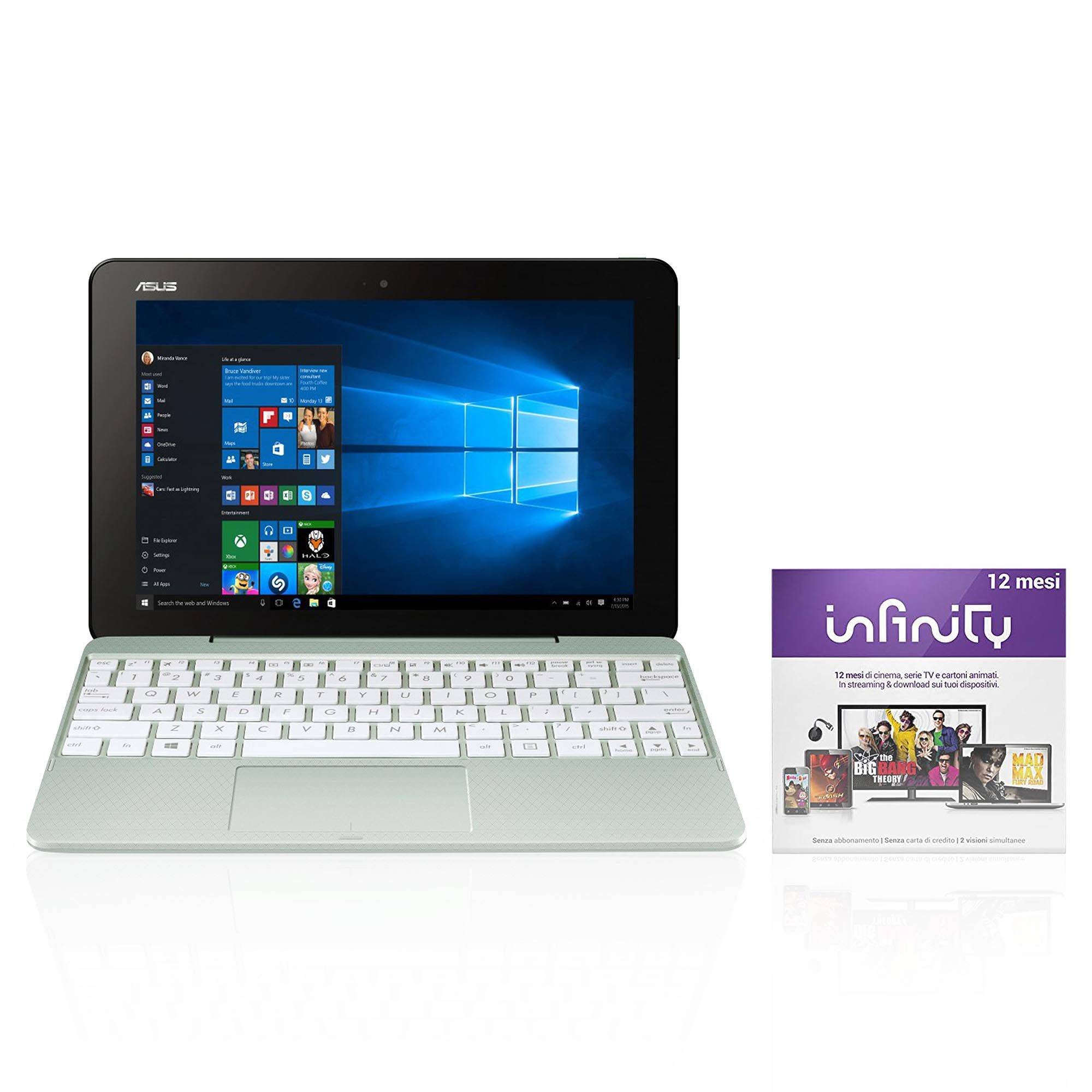 Asus T101HA-GR049T Notebook 2in1 + Infinity 12 mesi