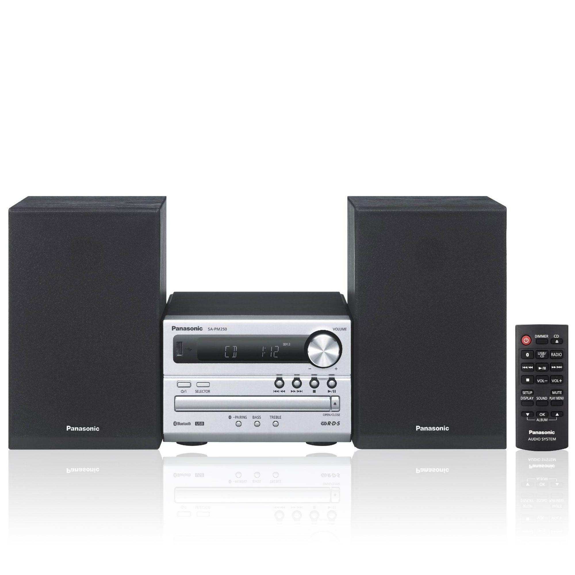Panasonic Stereo Micro Hi-Fi SC-PM250EG-S 20W