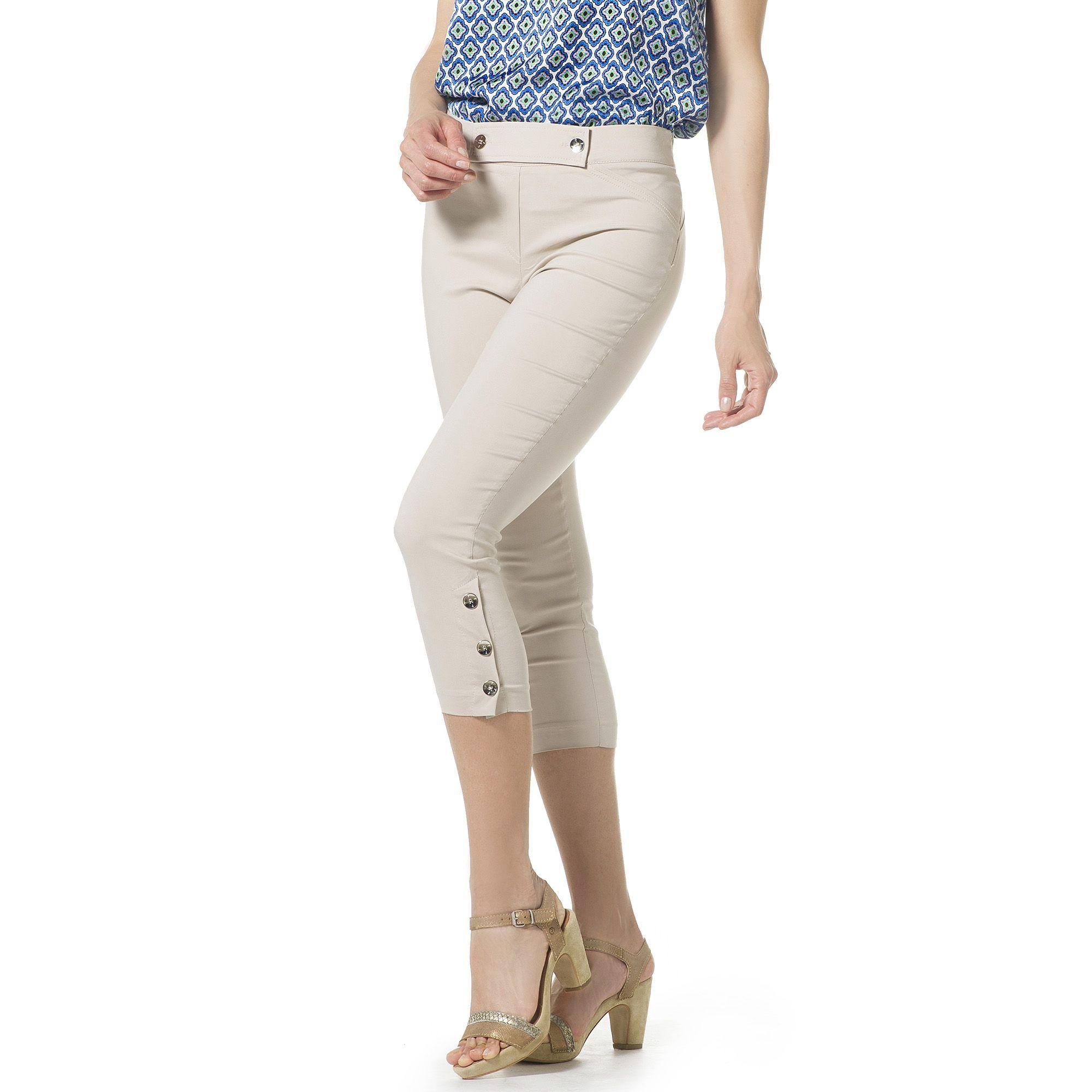 Officina della Moda Pantaloni capri in tessuto super stretch