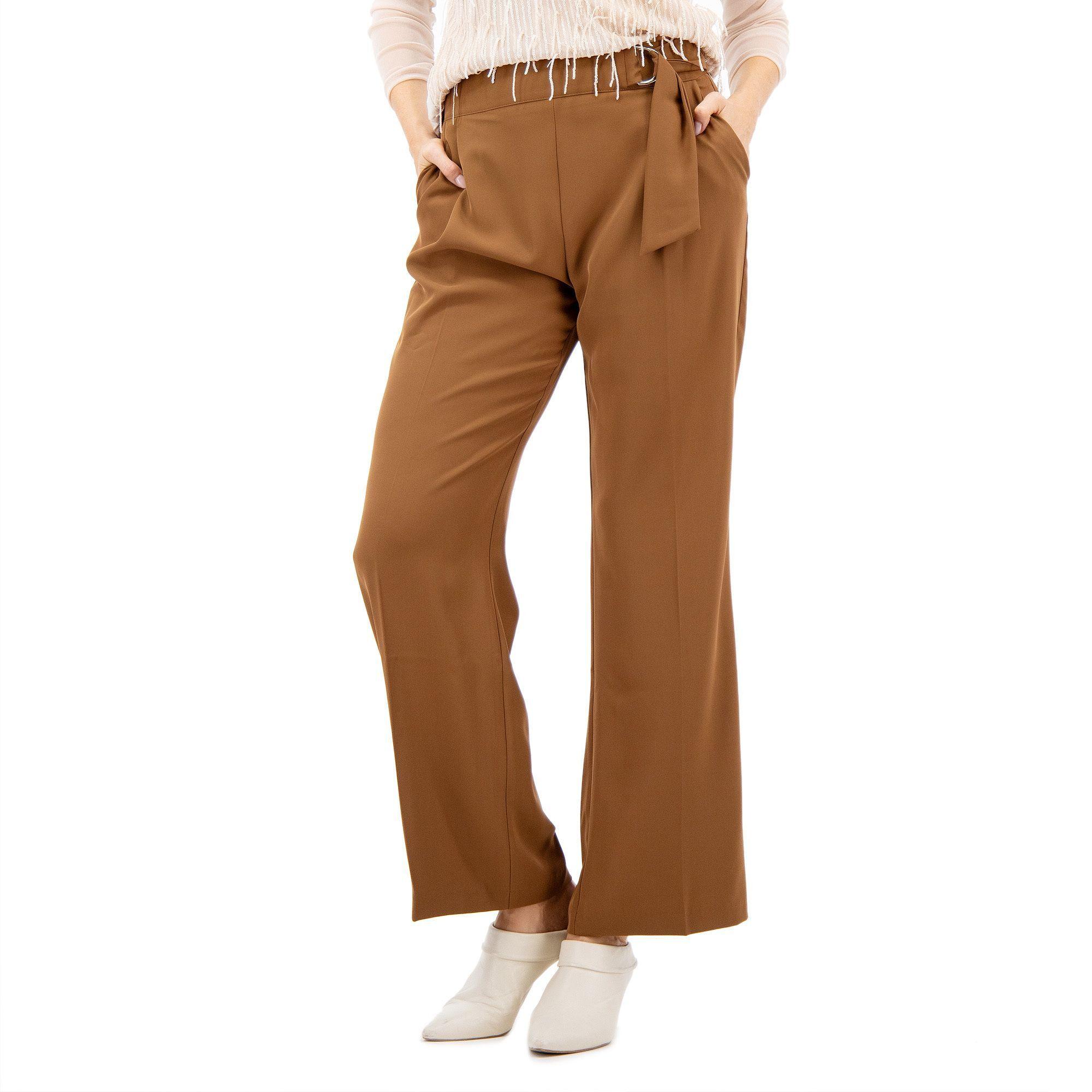Officina della Moda Pantalone in tessuto cady unito