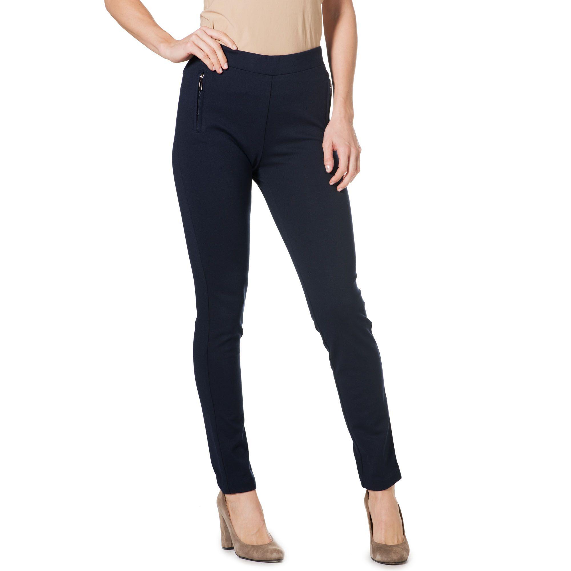 Officina della Moda Pantaloni a sigaretta in punto Milano con zip sulle tasche
