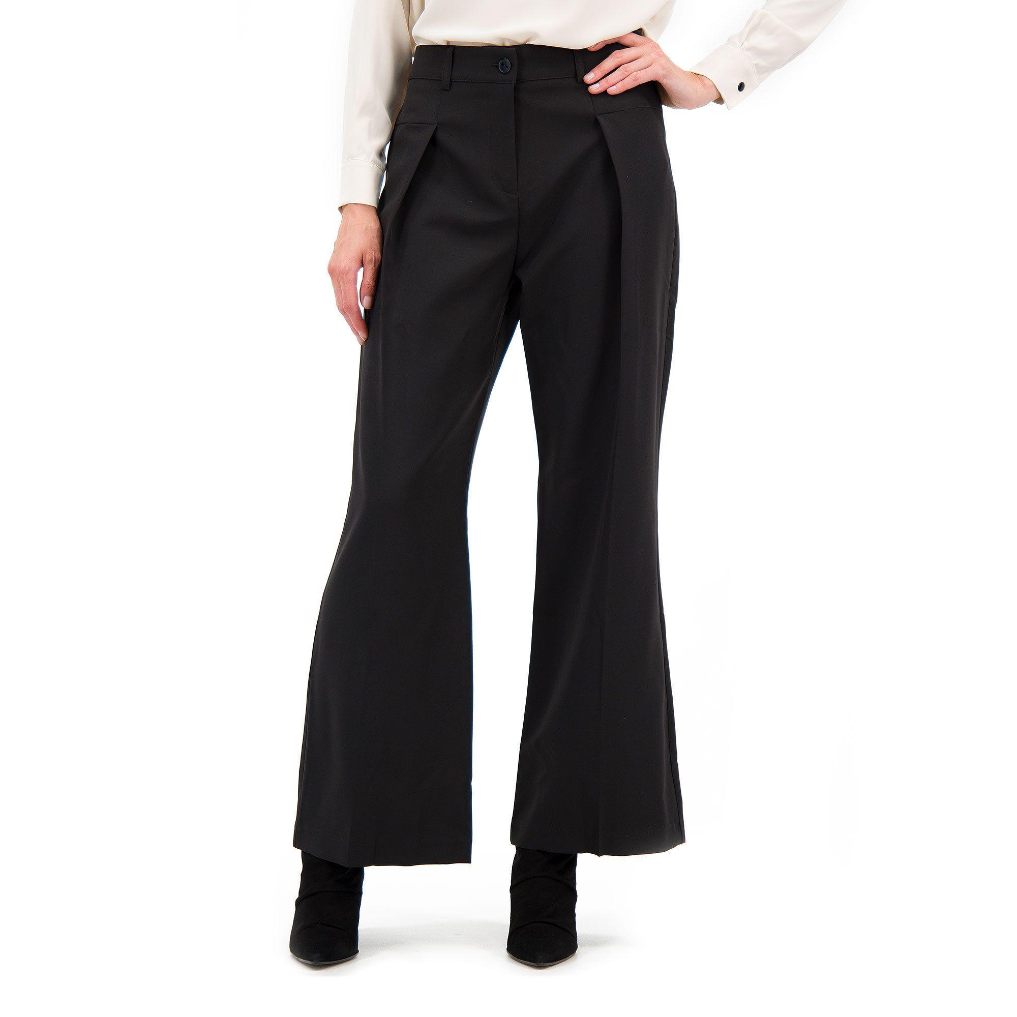 Officina della Moda Pantaloni ampi in tessuto bi-stretch