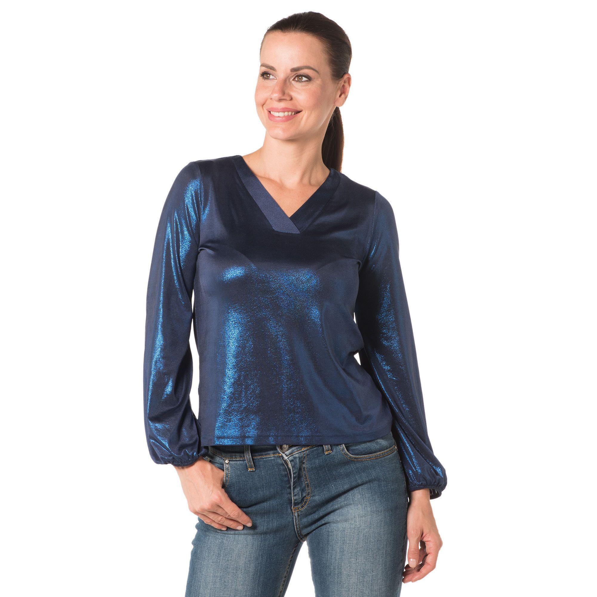 Officina della Moda Maglia in jersey laminato