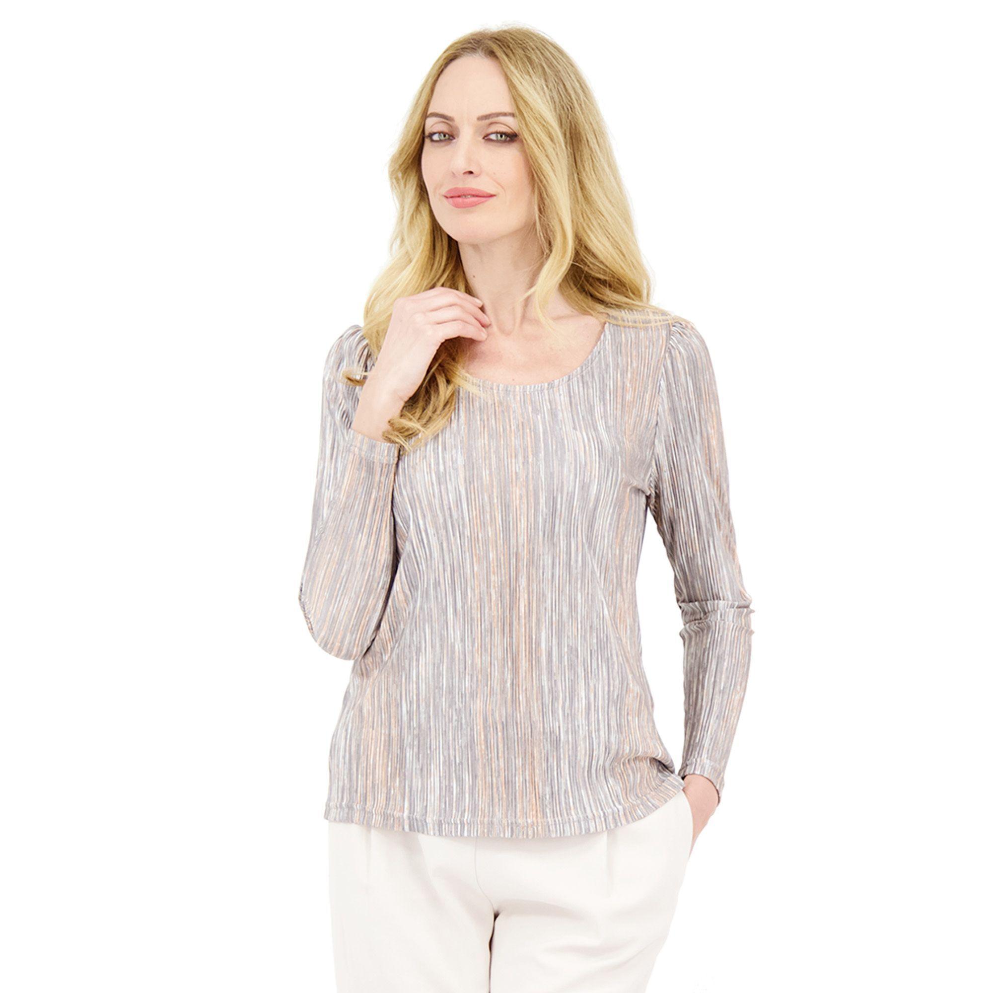 Officina della Moda Blusa in tessuto plissé