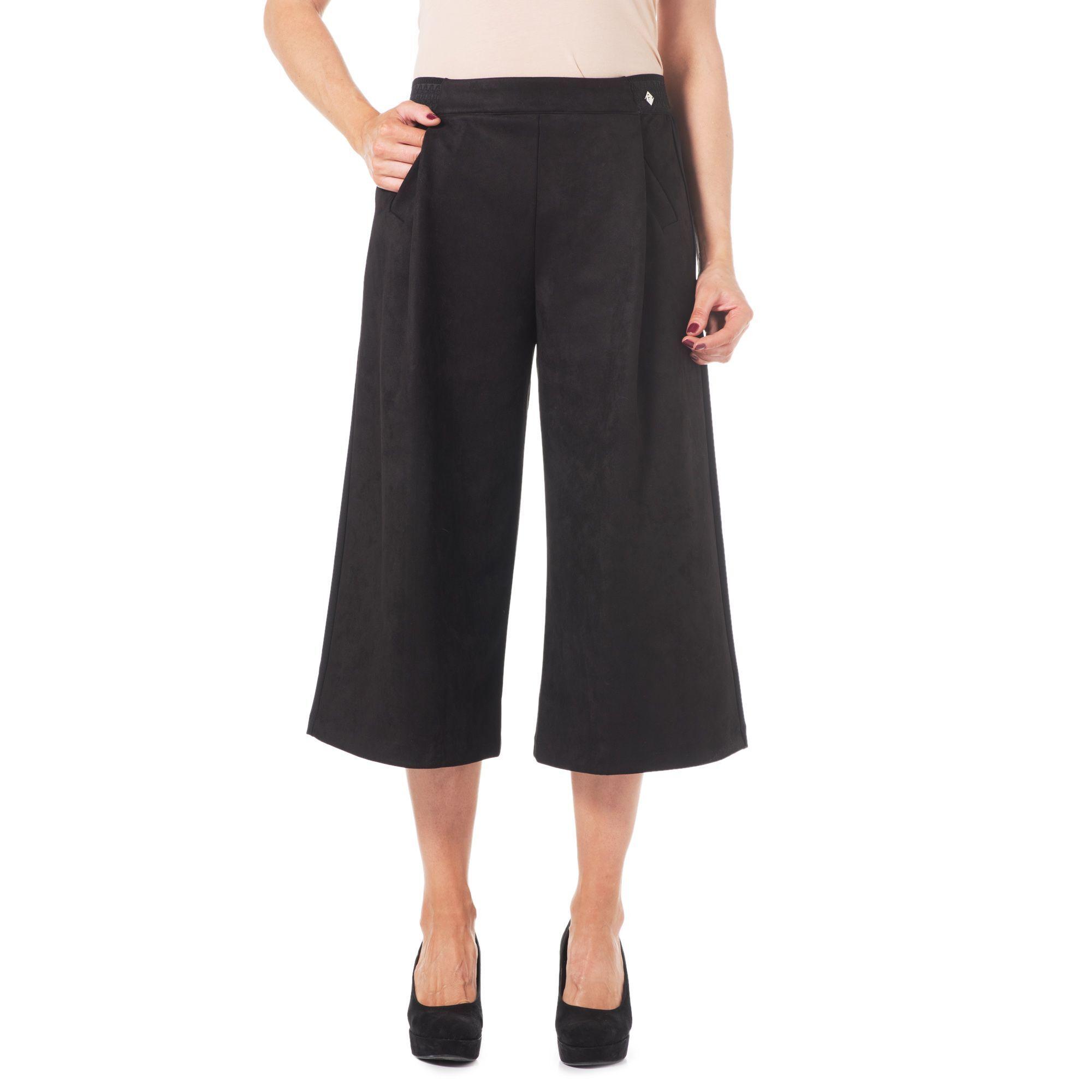 Officina della Moda Gonna pantalone con davanti in tessuto similrenna