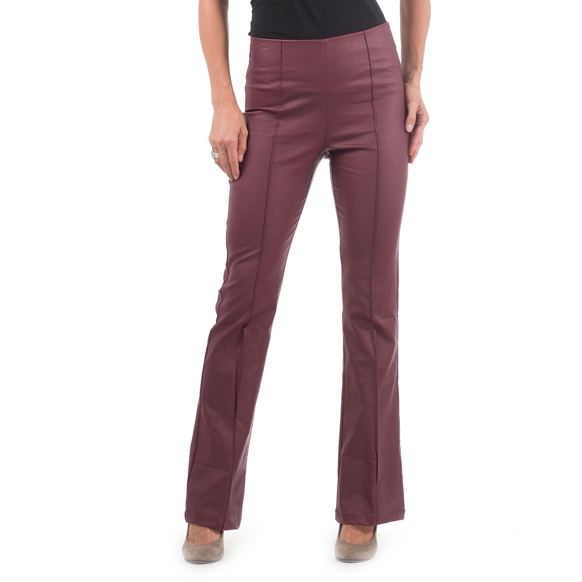 Officina della Moda Pantaloni made in Italy effetto pelle