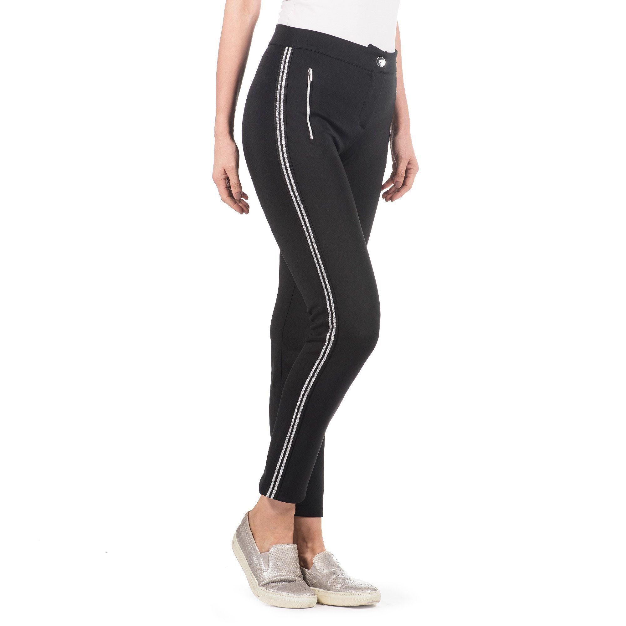 Officina della Moda Pantaloni made in Italy con bande laterali