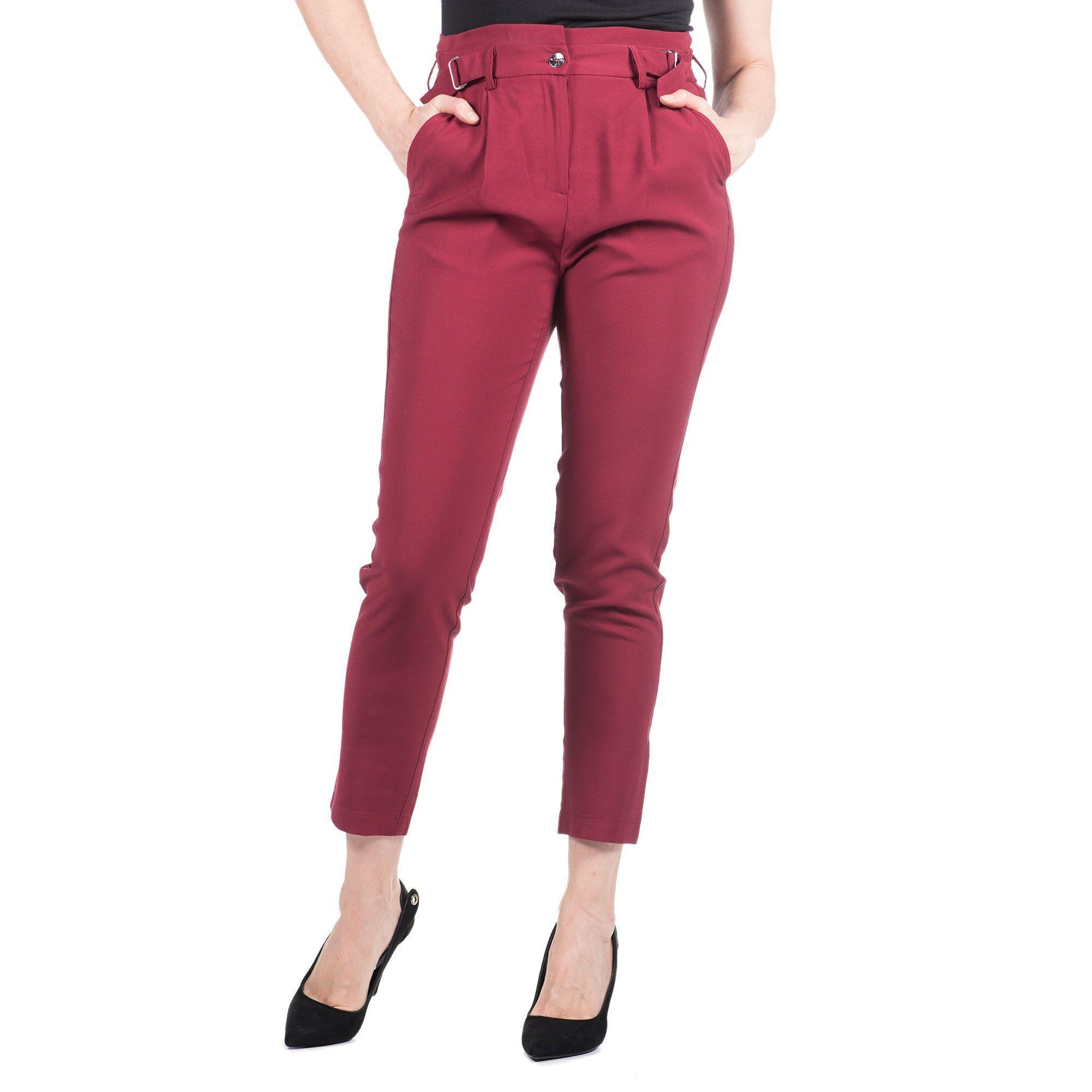 Officina della Moda Pantaloni con fibbie