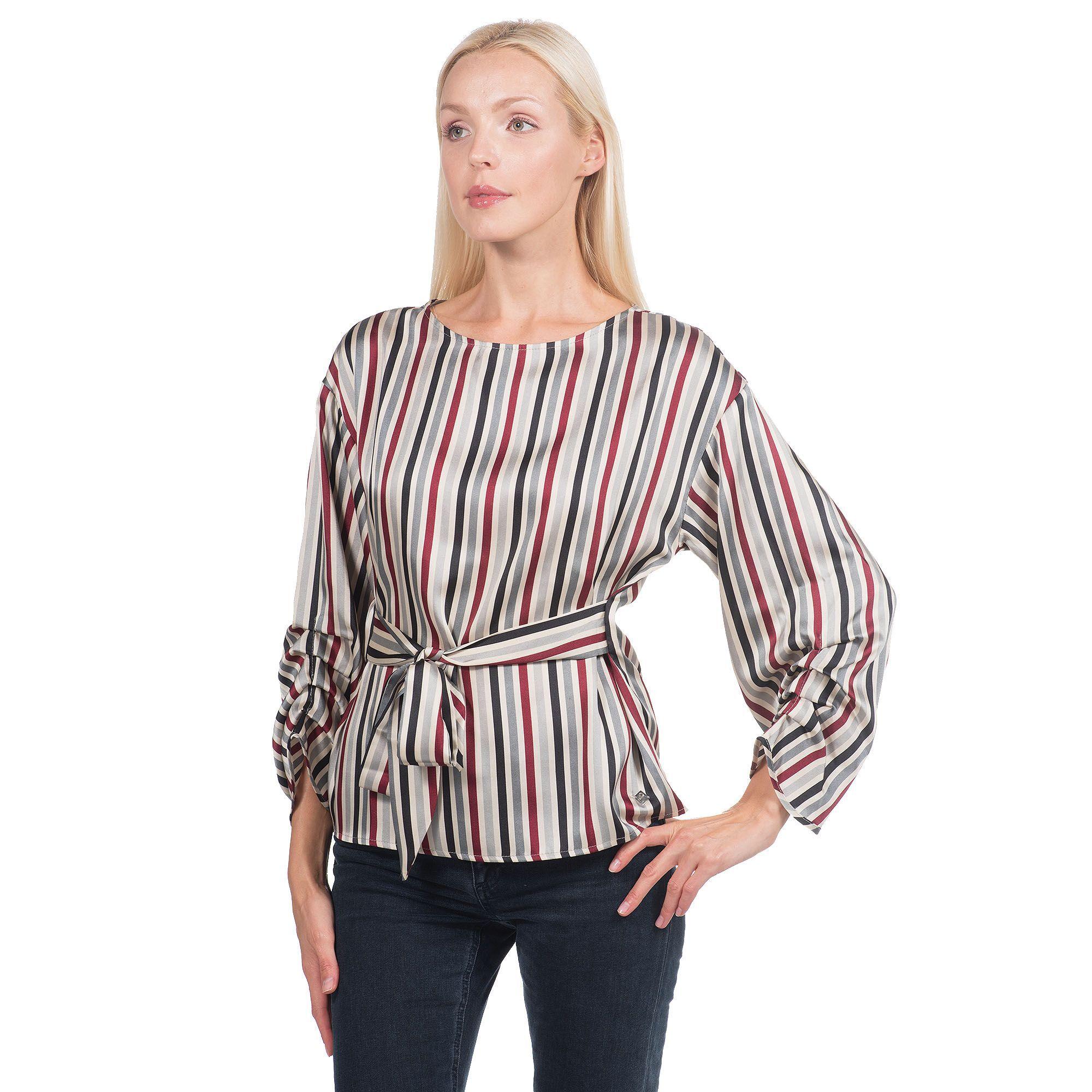 Officina della Moda Blusa made in Italy in raso fantasia