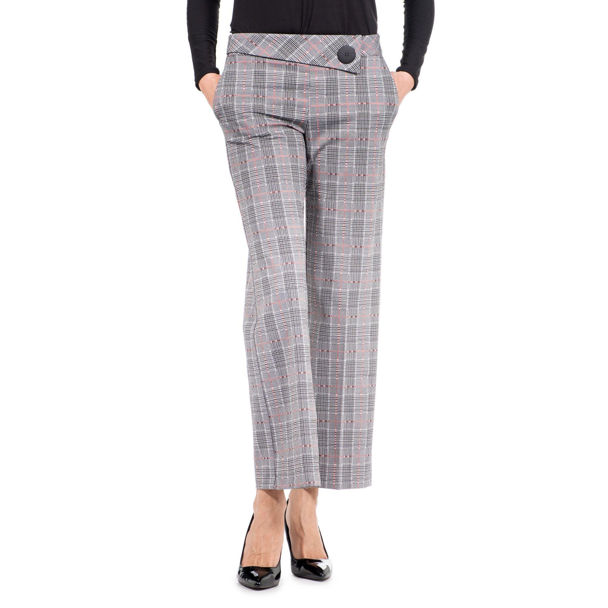 Officina della Moda Pantaloni a quadri made in Italy