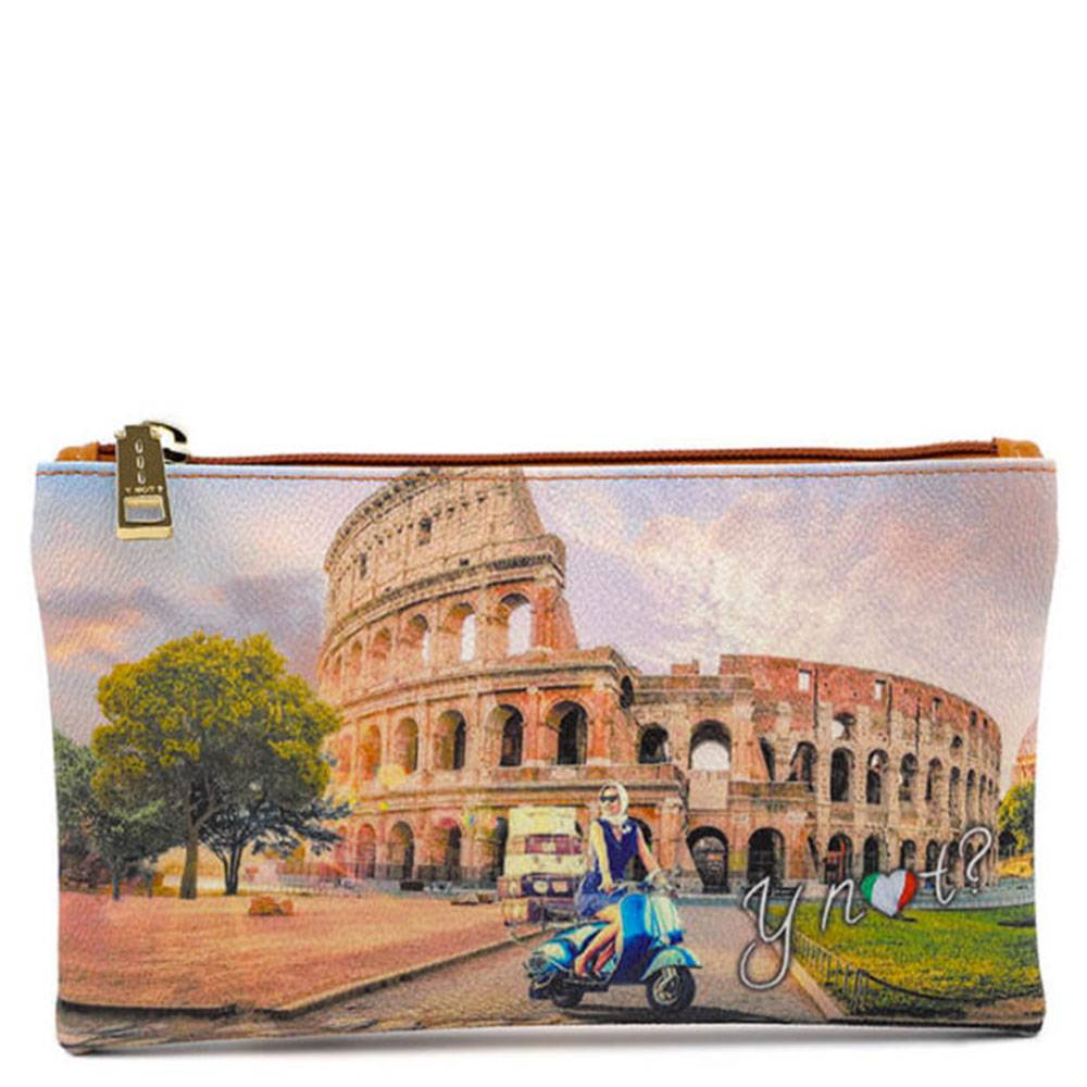 Y Not? Bustina Pochette Y NOT Trousse con Zip YES-341 Rome Vita