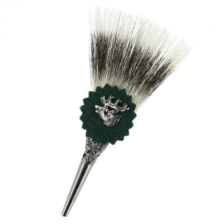 HUTTER accessorio per cappello tirolese con cervo in tono argento