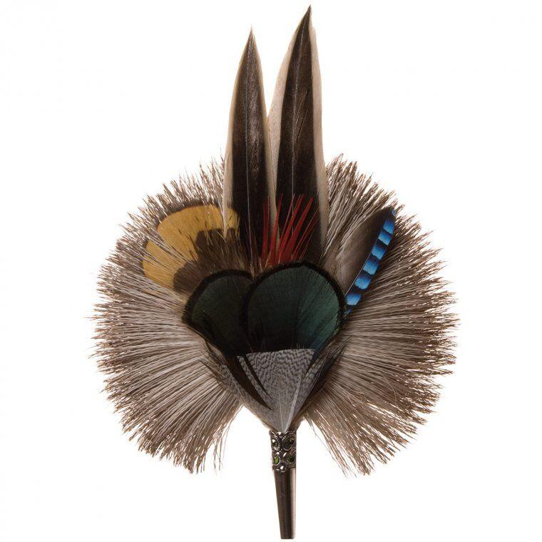 HUTTER Accessorio per cappelli - piume di anatra e fagiano e pelo di capriolo