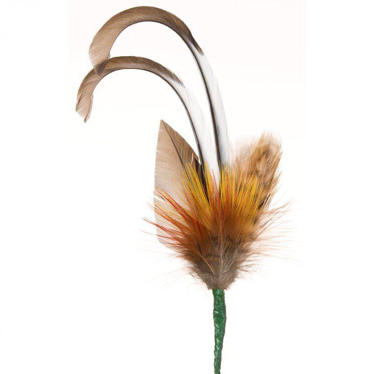 HUTTER Accessorio unico per cappelli - piume di fagiano, starna e ghiandaia