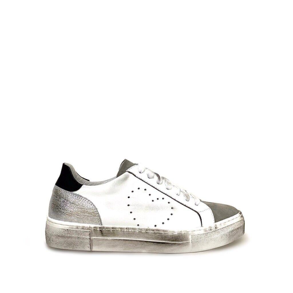 shoe gar sneakers cuore traforato grigio argento