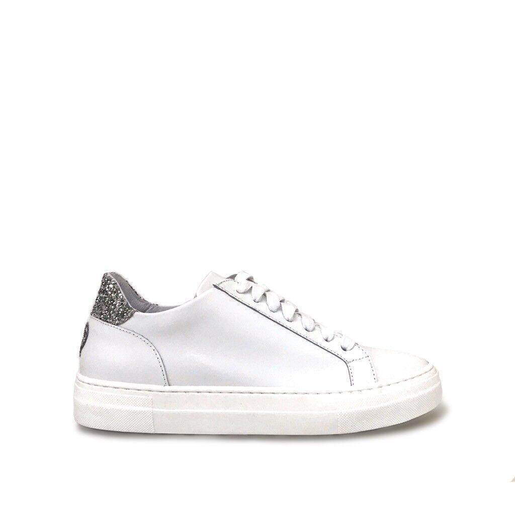 shoe gar sneakers mini cuore glitter argento