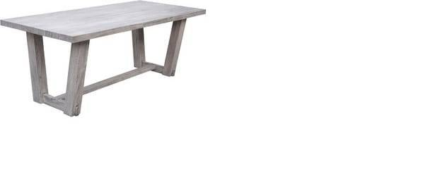 tavolo da esterno giardino in legno massello 'magnum stone' cm.200x90x78h cod.93624