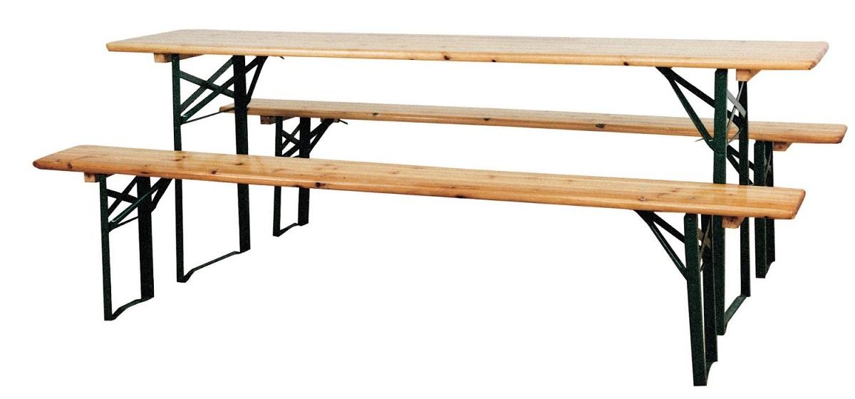 arredo giardino set birreria in legno cm 220x80x76h