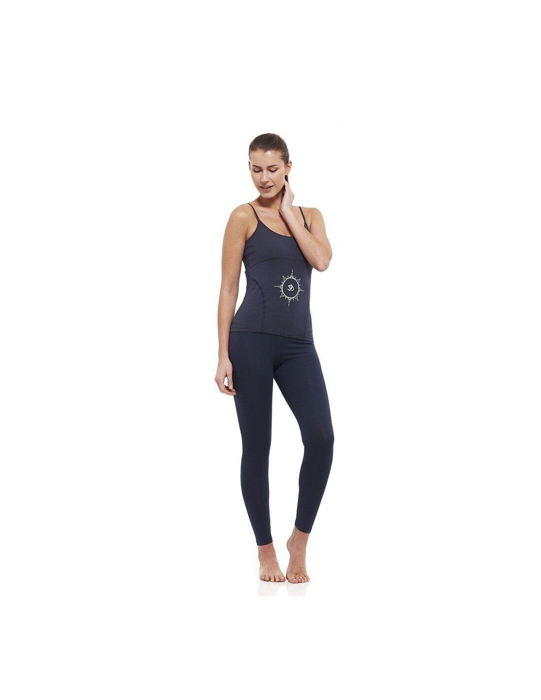 yogaessential completo: canotta yoga young + legging vita alta (blu)