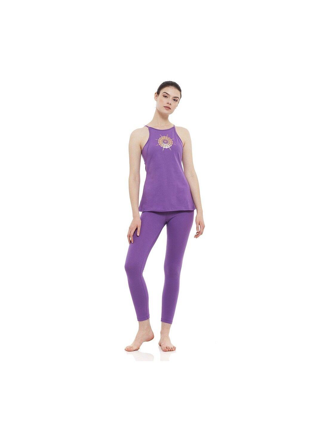 yogaessential completo sahasrara: canotta yoga shasrara + legging vita alta sahasrara (ametista)