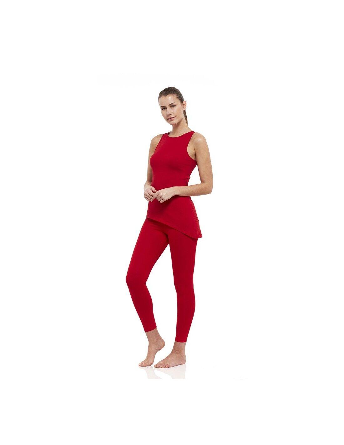 yogaessential completo muladhara: canotta yoga muladhara + legging vita alta muladhara (rosso)