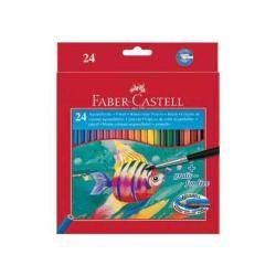Faber Castell Pastelli Faber-castell - set di pennello e matita colorata (pacchetto di 24) 114425