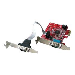 Lindy Scheda PCI 2 port low profile serial card - scheda seriale 51245