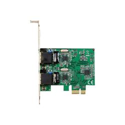 Startech Adattatore di rete .com scheda di rete ethernet pci express a 2 porte rj45 da 1 gbps st100