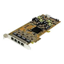 Startech Adattatore di rete .com scheda di rete pcie gigabit power over ethernet a 4 porte st4000pe