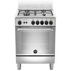 La Germania Cucina a gas Americana AMN664GXV Piano cottura Acciaio inossidabile Gas Classe A+