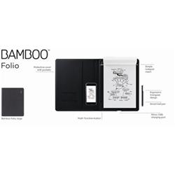 Wacom Smartpad Bamboo folio - digitizer - bluetooth - grigio scuro cds-810g